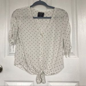 Abercrombie & Fitch XS Tie Front Blouse Top